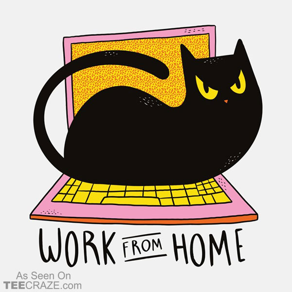 Work From Home Cat T-Shirt