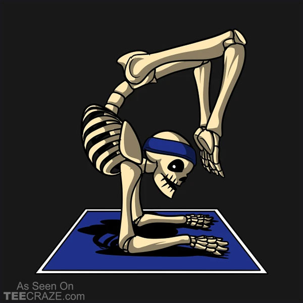 Skeleton Yoga Exercise Pose T-Shirt