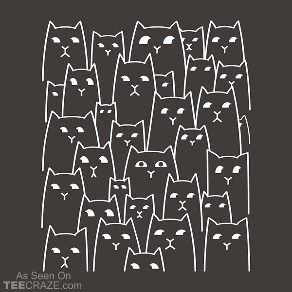 Suspicious Cats T-Shirt