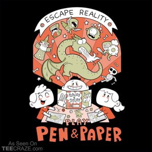 Escape Reality, Play Pen And Paper T-Shirt