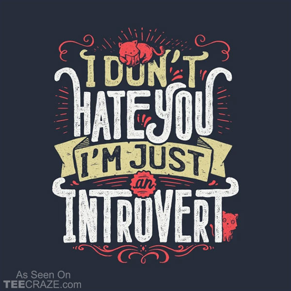 I Don't Hate You I'm Just An Introvert T-Shirt