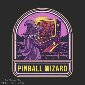 Retro Pinball Wizard T-Shirt