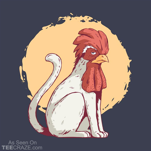 Rooster Cat T-Shirt