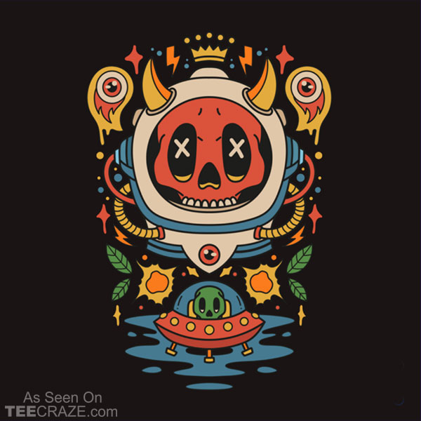 Astronaut and Alien T-Shirt