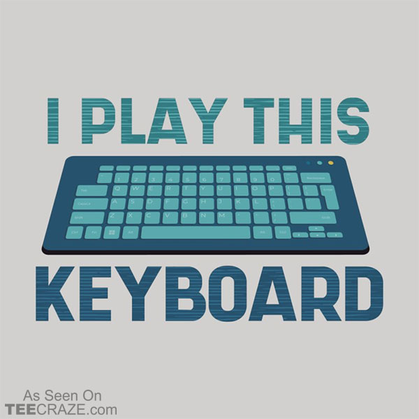 I Play This Keyboard T-Shirt