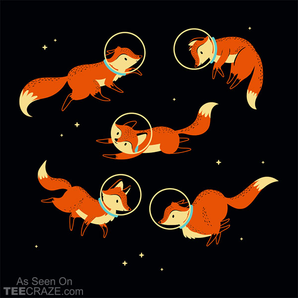 Foxes In Space T-Shirt