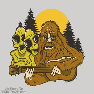Bigfoot And The Aliens T-Shirt