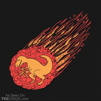Asteroid And Dinosaur T-Shirt