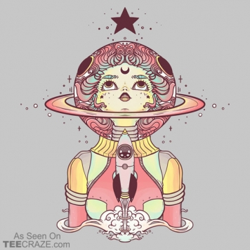 Astronaut Star Girl T-Shirt