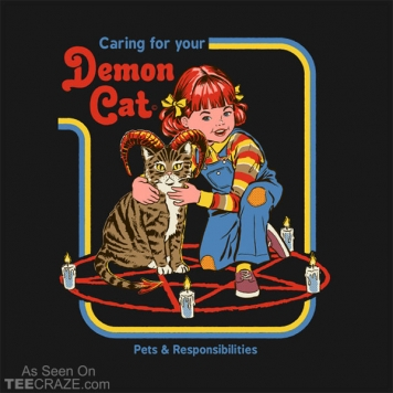 Caring For Your Demon Cat T-Shirt