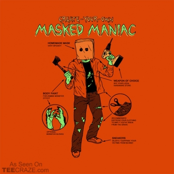 Create-Your-Own Masked Maniac T-Shirt