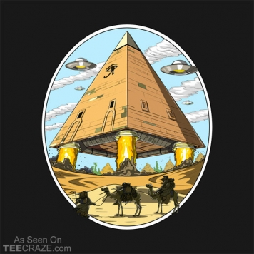 Egyptian Pyramid Aliens Space UFO T-Shirt