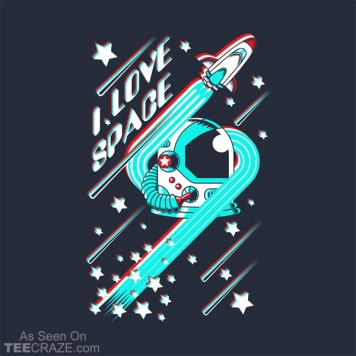 I Love Space T-Shirt