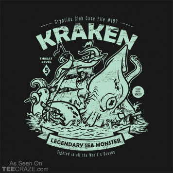 Kraken Cryptids Club T-Shirt