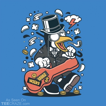 Penguin Guitarist T-Shirt