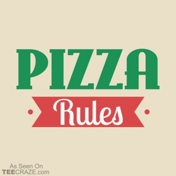 Pizza Rules T-Shirt