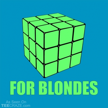 Rubik Cube For Blondes T-Shirt