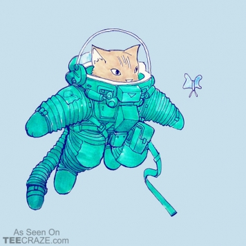 Space Cat Discovery T-Shirt